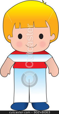 Poppy Austria Boy stock vector clipart, A smiling, well dressed young lad wears clothing representative of Austria. by Maria Bell