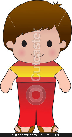Poppy Spain Boy stock vector clipart, A smiling, well dressed young lad wears clothing representative of Spain. by Maria Bell