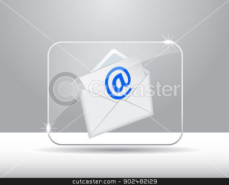 icon Computer stock vector clipart, Vector icon computer or internet by Alfio Roberto Silvestro