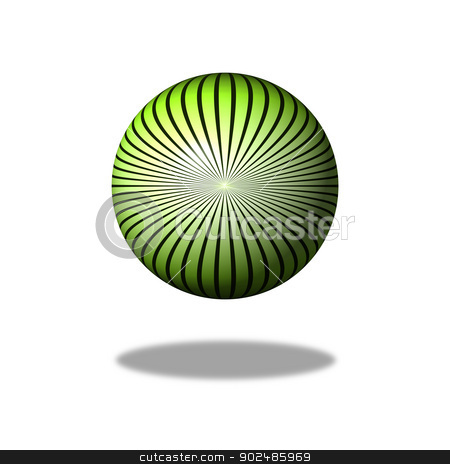 Green Star Gloabe stock photo, Green color star design building a globe with shadow. by Henrik Lehnerer