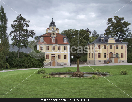 schloss belvedere stock photo, schloss belvedere in Weimar, a city in Thuringia by prill