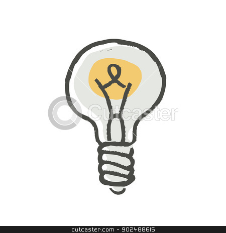 Light Bulb Vector stock vector clipart, Light Bulb Vector by pashabo
