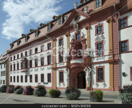 Kurmainzische Statthalterei in Erfurt stock photo, Street scenery of Erfurt, a city in Thuringia (Germany) by prill