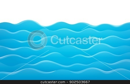 Waves theme image 8 stock vector clipart, Waves theme image 8 - eps10 vector illustration. by Klara Viskova