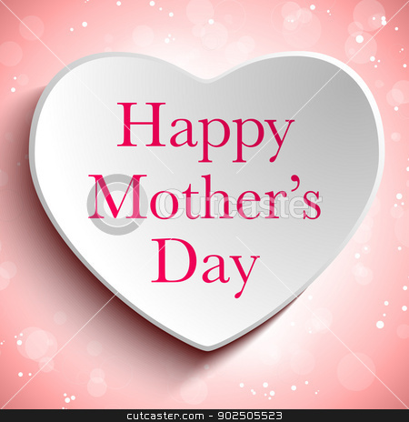 Happy Mother Day Heart Background stock vector clipart, Vector - Happy Mother Day Heart Background by Augusto Cabral Graphiste Rennes