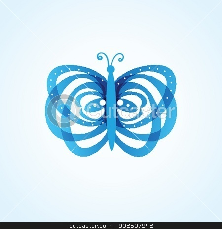 Butterflys on background stock photo, Butterflys on  background by Maria Cherevan