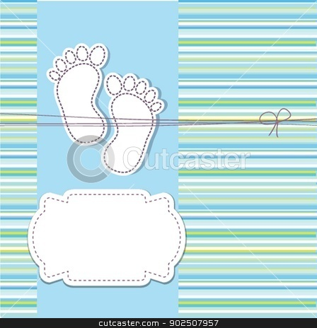 baby boy announcement card. vector illustration stock photo, baby boy announcement card. vector illustration by Maria Cherevan