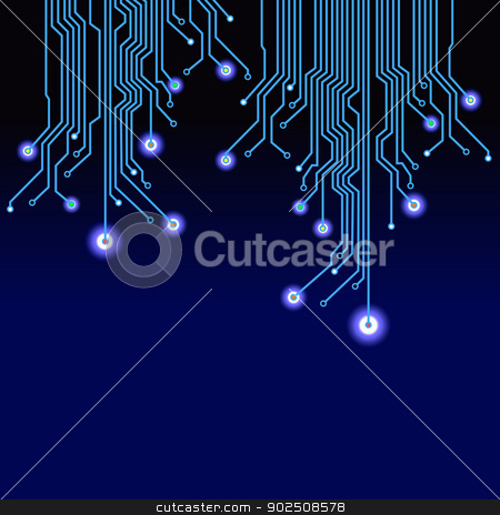 Electronic abstract background stock vector clipart, Electronic abstract background. Vector illustration. by konan_ai