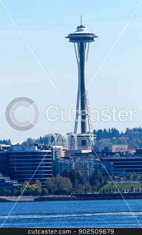 Seattle Tower Cityscape Buildings Washington stock photo, Seattle Tower Cityscape Buildings Skyline Washington by William Perry