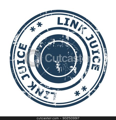 Link Juice concept stamp stock photo, Link Juice concept stamp isolated on a white background. by Martin Crowdy