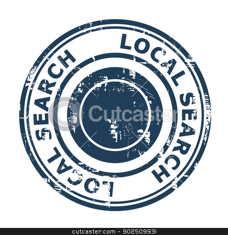 Local search SEO concept stamp stock photo, Local search SEO concept stamp isolated on a white background. by Martin Crowdy