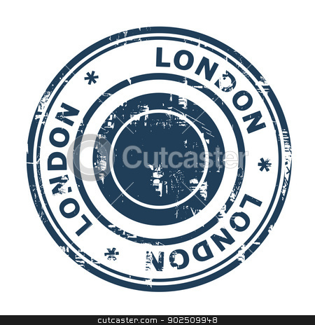 London travel stamp stock photo, London travel stamp isolated on a white background. by Martin Crowdy