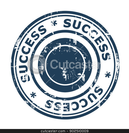 Success stamp stock photo, Success concept stamp isolated on a white background. by Martin Crowdy