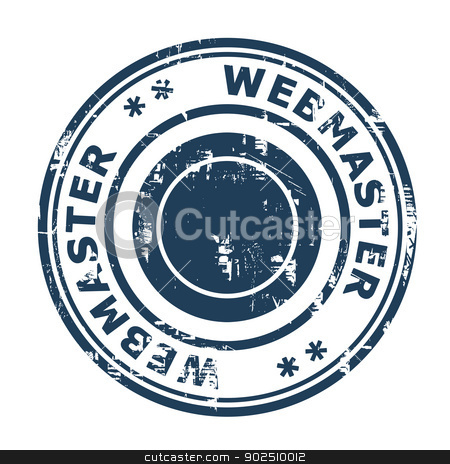 Webmaster SEO concept stamp stock photo, Webmaster SEO concept stamp isolated on a white background. by Martin Crowdy
