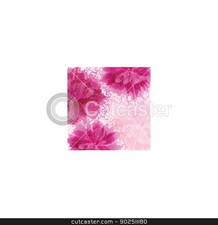 Vintage vector frame on floral background stock photo, Vintage vector frame on floral beautiful background by Maria Cherevan