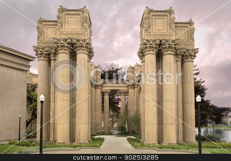Corinthian Style Column at Palace of Fine Arts stock photo, Corinthian Style Column at Entrance of Palace of Fine Arts in San Francisco by Jit Lim