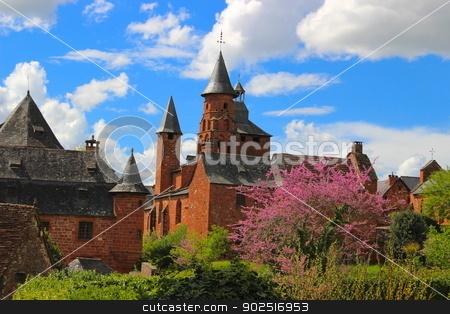 Red medieval city, Collonges-la-Rouge, Corrèze, Limousin, France