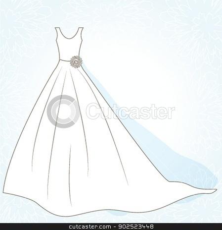 Wedding background with dress stock photo, Wedding background with dress by Maria Cherevan