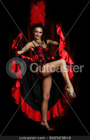 Couple dancer moulin rouge  stock photo, Couple dancer moulin rouge  by andersonrise