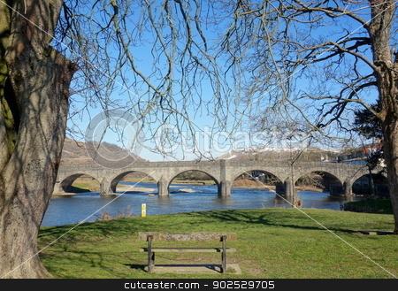 Builth Wells bridge river Wye, Wales UK. stock photo, Builth Wells bridge river Wye, Wales UK. by Stephen Rees