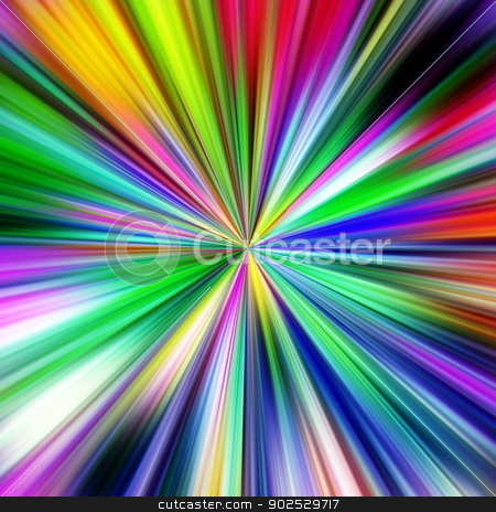 Multicolored explosion abstract illustration. stock photo, Multicolored explosion abstract illustration. by Stephen Rees