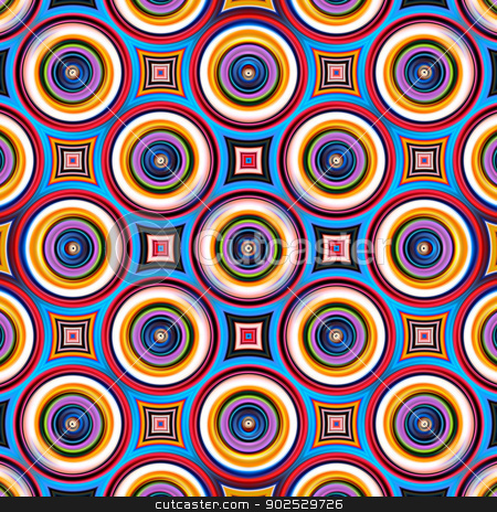 Colorful symmetrical abstract circle shapes pattern. stock photo, Colorful abstract circle shapes pattern. by Stephen Rees