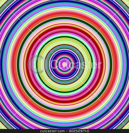 Multicolored bright vibrant circles illustration. stock photo, Multicolored bright vibrant circles illustration. by Stephen Rees