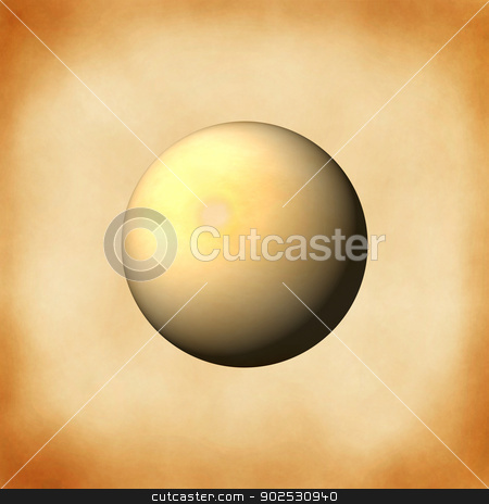 Old Paper Globe stock photo, A sphere bulild from an old paper background. by Henrik Lehnerer