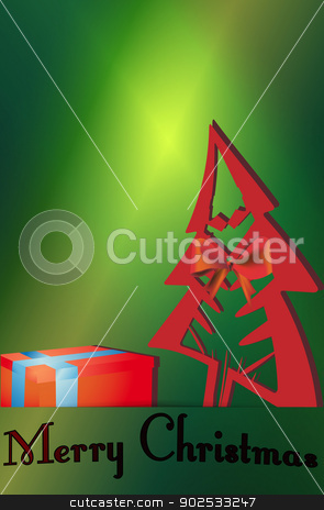 Christmas tree gift cards stock vector clipart, Christmas tree gift cards vector illustrations. by Pavel Skrivan
