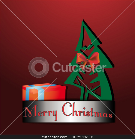 Christmas tree cards stock vector clipart, Christmas tree gift cards vector illustrations. by Pavel Skrivan