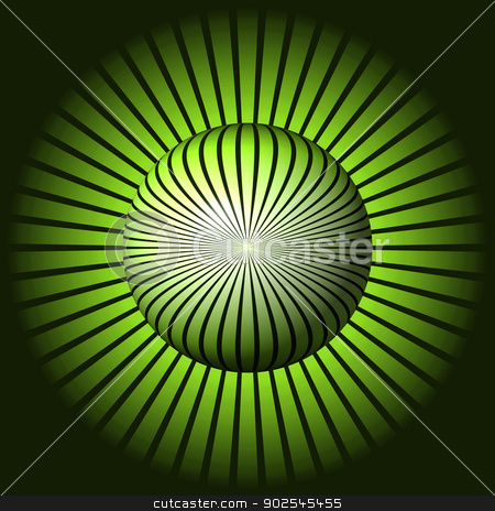 Abstract Green Globe stock photo, Abstract green start designe is building a globe or sphere. by Henrik Lehnerer