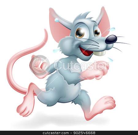Rat Race Illustration stock vector clipart, Illustration of a cartoon rat character running, a conceptual illustration for the rat race perhaps. by Christos Georghiou