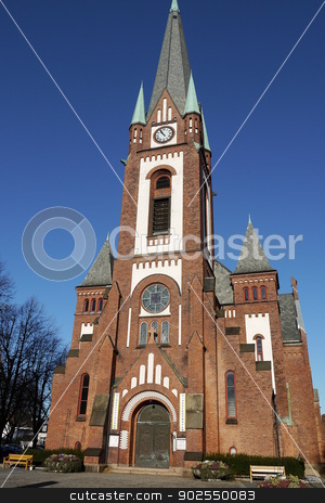 Sandefjords church, Norway stock photo, A church in the town Sandefjord, Norway. by Gunild