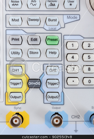 keyboard of professional modern test equipment - analyzer stock photo, keyboard of Modern testing equipment - analyzer by Artush