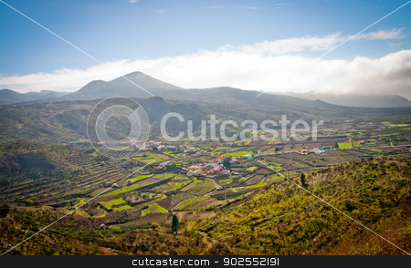 Farmfield on Tenerife stock photo, A beautiful view out over some farmfields on Tenerife, Spain by Tommy Alsén
