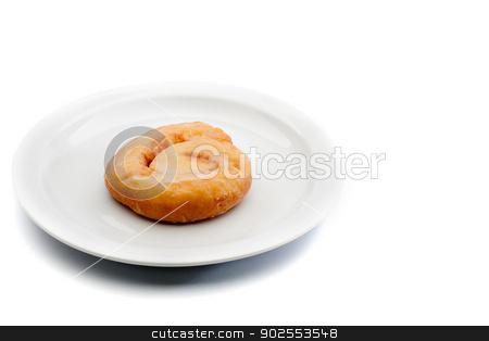Horizontal image of a sweet snack on a white plate stock photo, Horizontal image of a sweet snack on a white plate by Vince Clements