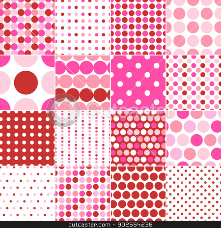 seamless polka dots print  stock vector clipart, seamless polka dots print   by Sau Kit Lai