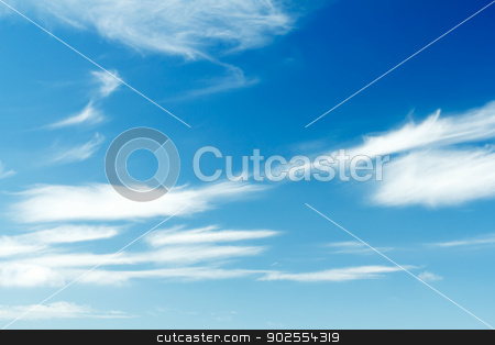 Spring blue sky with white clouds  stock photo, Nice spring blue sky with white clouds  by Artush