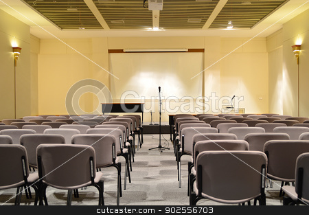 Conference room interior stock photo, Conference room interior, Chiangmai Convention Center by Lekchangply