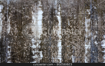 Dirty Old Wall stock photo, Beautiful Black Dirty Old Wall by Niphon Chanthana