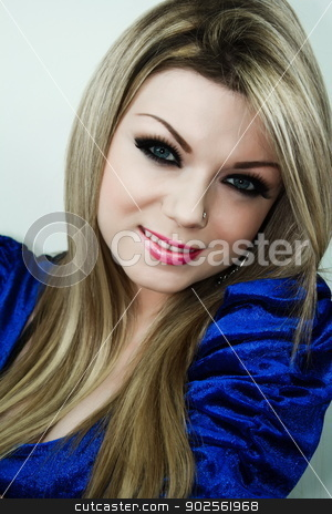 Woman Smile With Make Up stock photo, Beautiful Young Woman Smile With Make Up by Niphon Chanthana