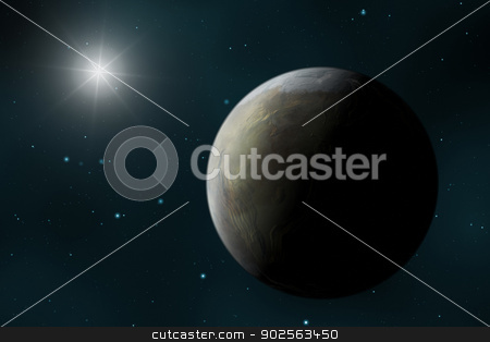 Planet stock photo, An image of a strange planet in space by Markus Gann