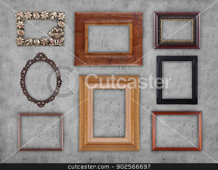 Many frames stock photo, Many different type of frames collection  by odua images