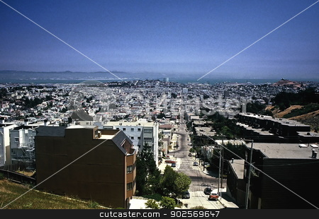 San Francisco, California stock photo, Looking towards downtown - San Francisco, California by Anthony Dezenzio