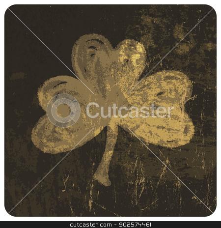 Grunge clover leaf. Vector stock vector clipart, Grunge clover leaf. Vector by pashabo