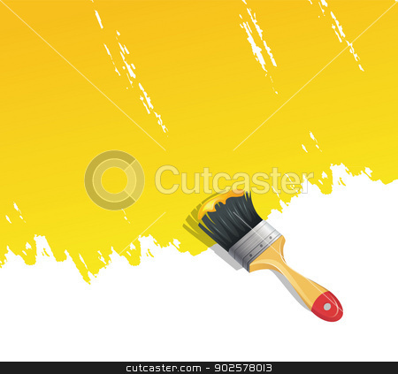 Background with paint brush stock vector clipart, Vector illustration of Background with paint brush by SonneOn