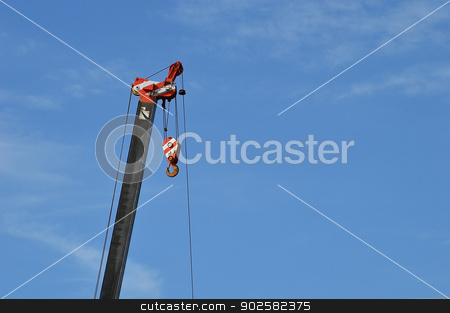 crane with blue sky stock photo, crane with blue sky element of design by Lekchangply