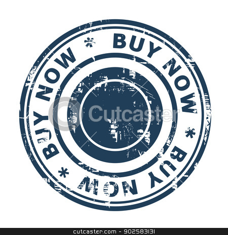Buy now concept stamp stock photo, Buy now concept stamp isolated on a white background. by Martin Crowdy