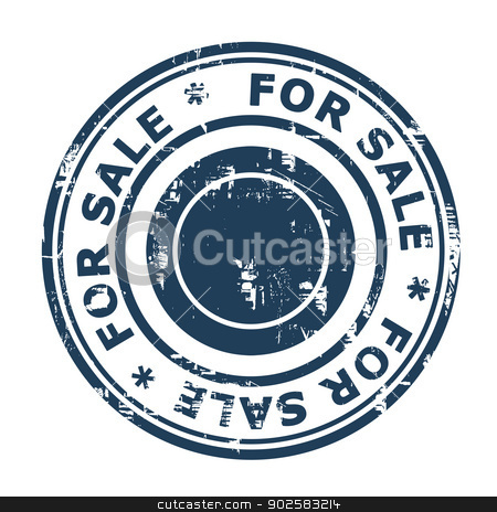 For sale concept stamp stock photo, For sale concept stamp isolated on a white background. by Martin Crowdy