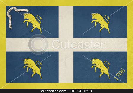 Grunge Flag of city of Turin stock photo, Grunge flag of city of Turin in Italy by Martin Crowdy